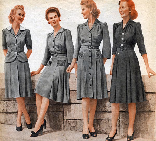 1940s Dressing Gown: 1940s Dresses & Skirts: Styles & Trends